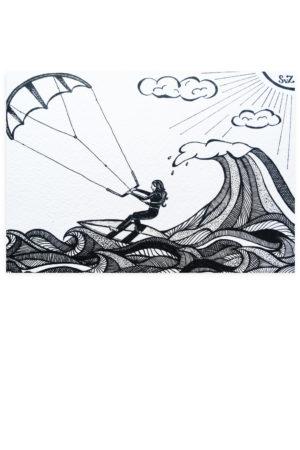 Kiten, kitesurfen, kiter, kitesurf, Waterkunst, artwork