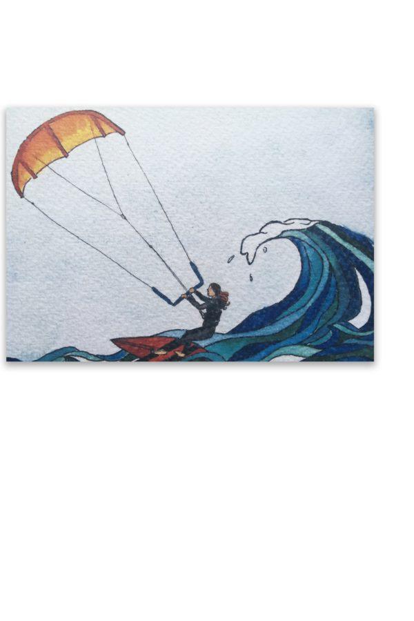 Artwork, Kitesurfen, kitesurfer, Waterkunst