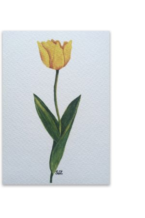 Gele tulp, artwork, Waterkunst