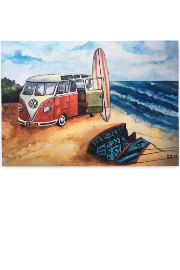 Kitesurfen, landschap, Waterkunst, surfbus