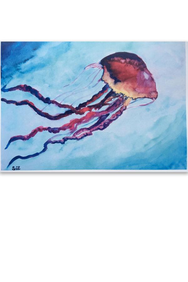 Aquarel, kwal, artprint, artwork, Waterkunst