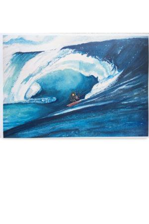 kitesurfer, oceaan, artwork, waterkunst
