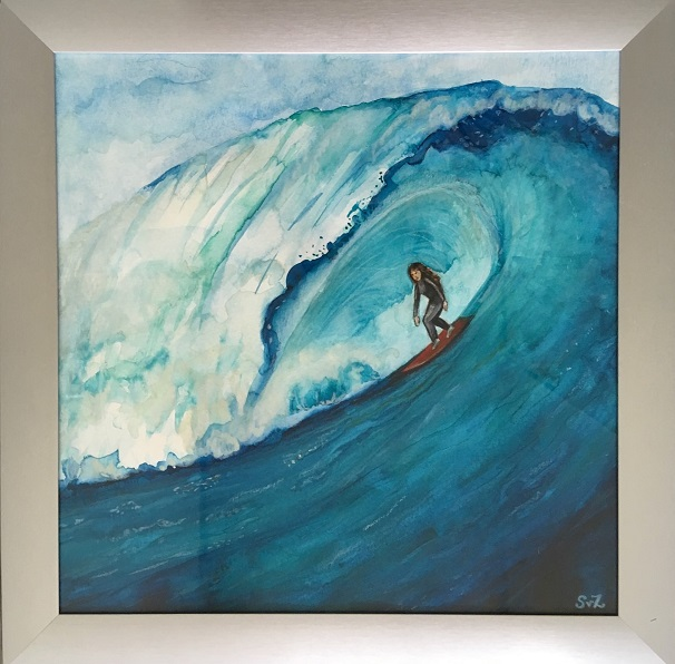 waterkunst, artwork, hoge golf, surfer
