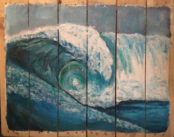 wave, surf, waterkunst, acrylverf, acryl